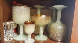Vintage Mexican hand blown glass