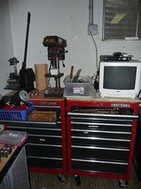 Drill Press and Tool Boxes