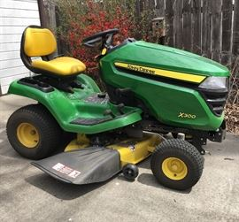 John Deere X300 Riding Mower w/ under 50 hours!