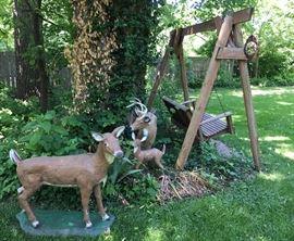 Concrete Deer Statuary
