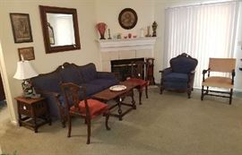 Living Room full of Antiques and Collectibles