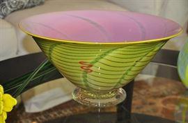 Gorgeous hand blown glass bowl