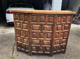 1960 hand carved bar bought in Spain and brought home to the states