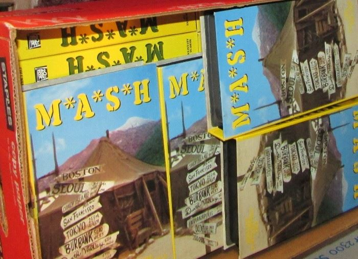 2 copy paper cases of MASH VHS types