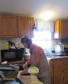 Linda has scrubbed every dish in the house. Her hands are water logged, I'm sure!