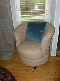 New (never used) Barrel Swivel Chair