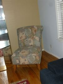 High back contemporary chair