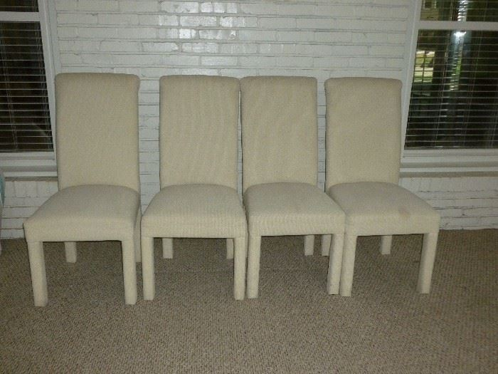 4 parsons chairs