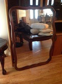 Wood Frame Mirror $ 40.00