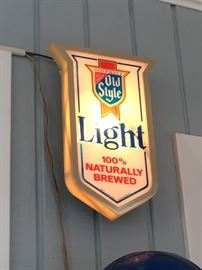 Old Style Light light-up sign