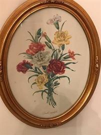 Pair of framed florals.