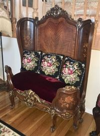 Victorian wood seat