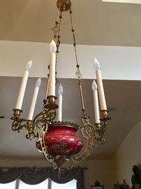 Antique Parlor chandelier