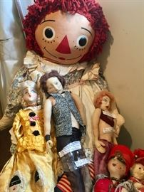 Raggety Ann & Stockinette dolls