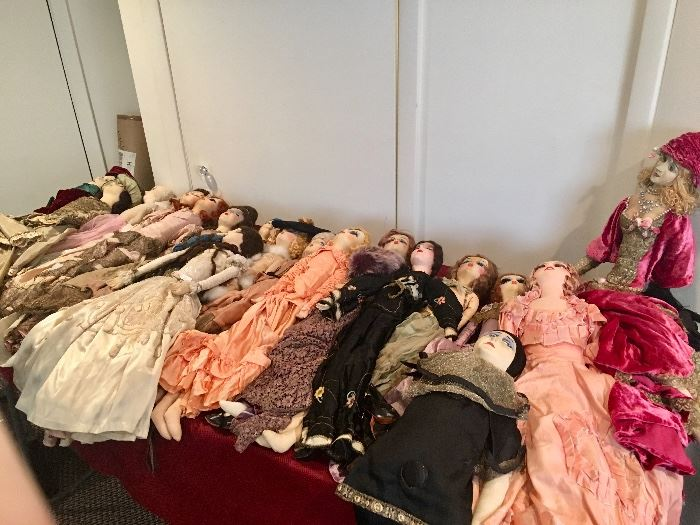 These are all FRENCH Boudoir Dolls c.1900-1920's