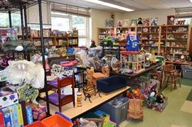A toy room filled with toys for all ages.