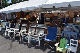Outdoor furniture  - a bargain alley  of goods.