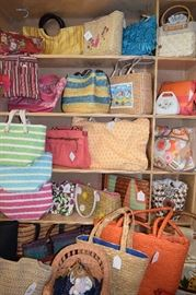 Purses...our signature item!  Words cant describe the variety, colors, shapes and the prices.  Don't miss this room.