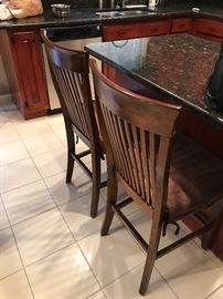 WOODEN BAR STOOLS / CHAIRS