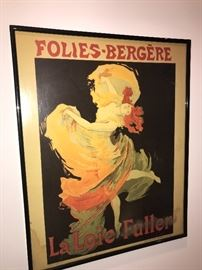 FRENCH POSTERS FRAMED ART