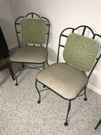 TWO METAL OUTDOOR CHAIRS