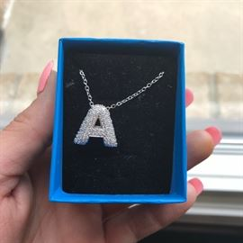 SPARKLY LETTER A NECKLACE