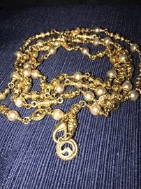 ST. JOHN GOLD-TONE LONG NECKLACE