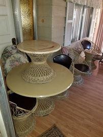 Mid century spun fiberglass patio set