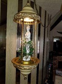 Mid century rain  lamp.