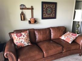 Bradington & Young leather sofa