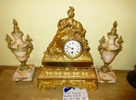 pair of garniture, French clock. Not a set