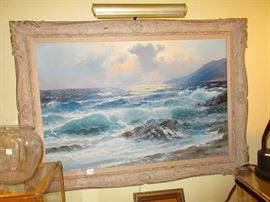 we have 3 of these sea scapes, all signed Alex Dzigurski. We found him .