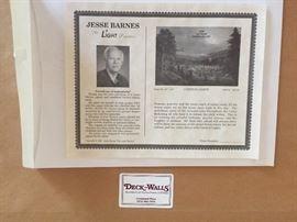 BEAUTIFUL Jesse Barnes Framed COA CARNIVAL LIGHTS. SOLD