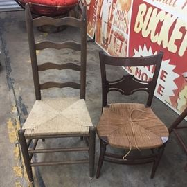 Ladder Back Chairs (2)