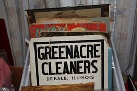 Vintage signs, scrapbooks, photos, advertisements..box is full, excellent condition