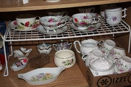 Assorted Tea cup and saucers and tea set