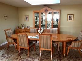 Gorgeous Hickory & White Dining room set