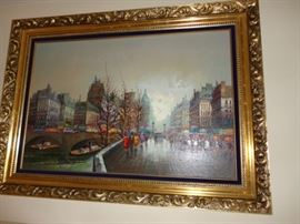 FRAMED ART DuMONT CITY BRIDGE