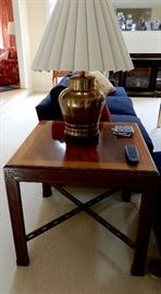 ASIAN TABLE AND LAMP