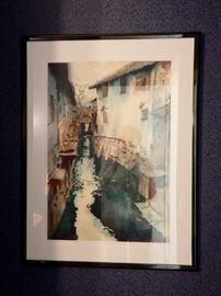 WONDERFUL WATER COLOR OF CHINA CANAL