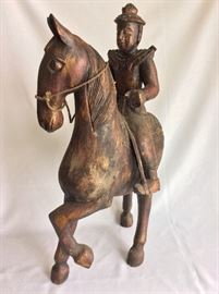 "Warrior on Horse, 24"" H."