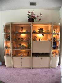 Beautiful wall unit formica Curio, 104 Long