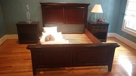 Queen bed and matching nightstands