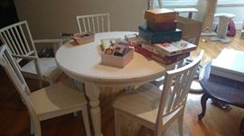 "Pottery Barn table-45"" diameter"