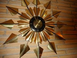 Mid Century StarBurst Clock, Welby Germany