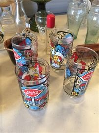 Vintage Dairy Queen Glasses and Coke glasses