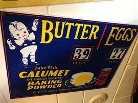 Calumet Baking powder sign