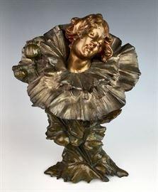 Sg. Wagner Art Nouveau Bronze Bust