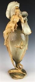 Large Amphora Maiden on Vase