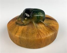 A. Walter Scarab Paperweight